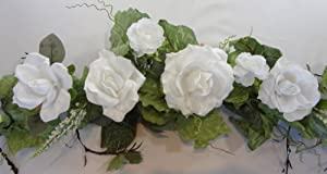Amazon.com - Rose and Lily Wedding Bouquets (White) - Floral Swag