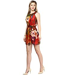 LY2 Multi color red print Western Wear for Stunning look