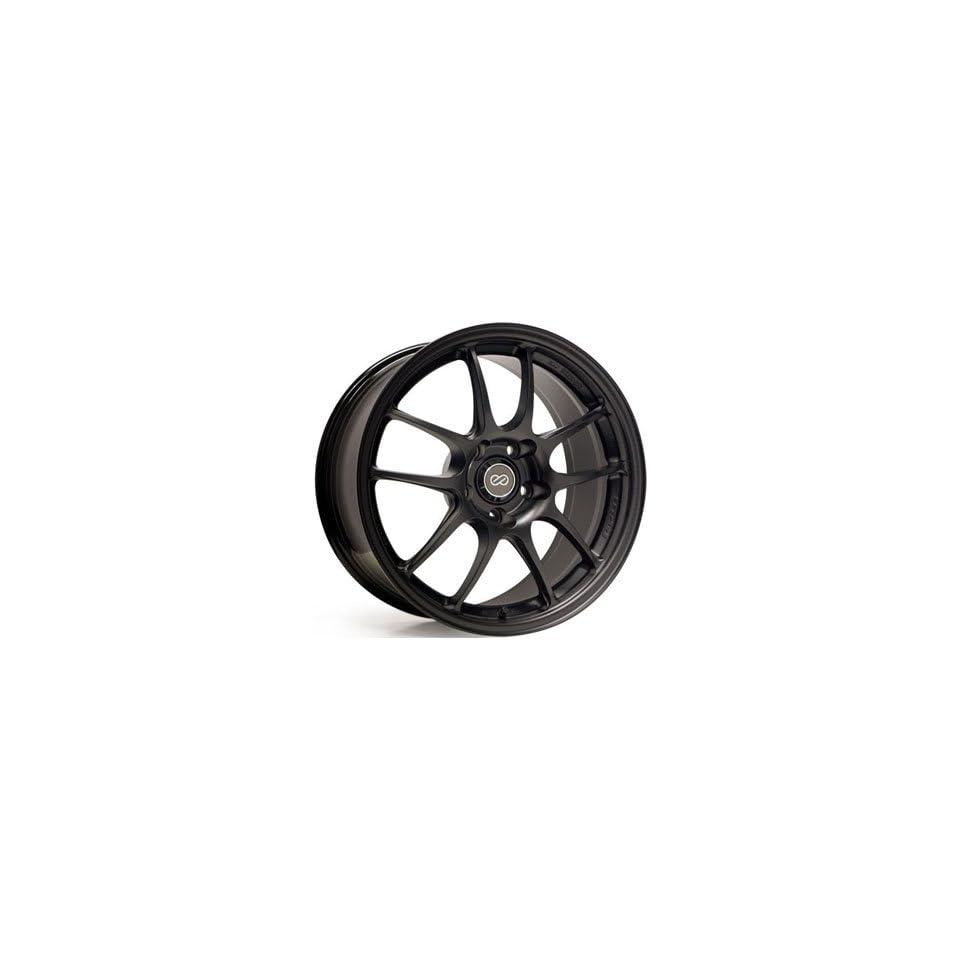 Enkei PF01 17x9 5x114.3 48mm Offset 75mm Bore Diameter Matte Black Wheels   Set of 4