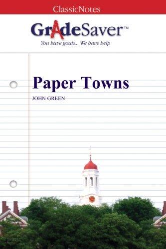 Paper Towns Summary | GradeSaver