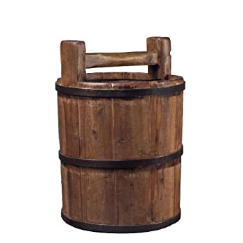 Antique Revival Wooden Soy Sauce Bucket, Natural