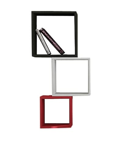 Decortie by Homemania Set 3 Paneles Kutugen Negro/Blanco/Rojo