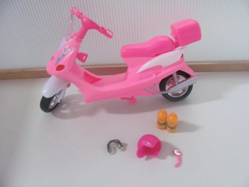 41Gx2A3YWAL Buy  Barbie Dollhouse Furniture  Motor Cycle with Halmet