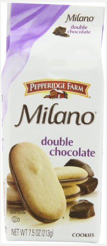 Pepperidge Farm Double Chocolate Milano Cookies, 7.5-Ounce (Pack of 4)