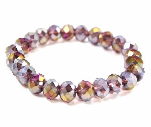 C.A.K.E. By Ali Khan Bracelet, Light Purple Beaded Stretch Bracelet