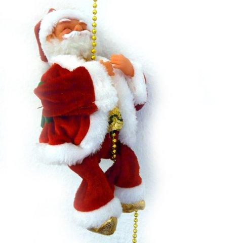 Kletternder Weihnachtsmann Santa