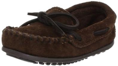 迷你唐卡Minnetonka Boy's Moccasin 男士豆豆鞋 巧克力 $24.97