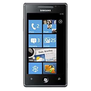Samsung GT I8700 Omnia7 Unlocked Phone with Windows 7 OS, Wi-Fi, 5 MP Camera and HD Video - International Version - Black
