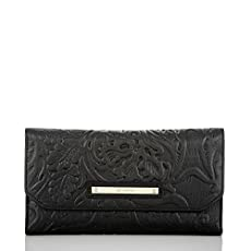 Soft Checkbook Wallet<br>Black Saint Germaine