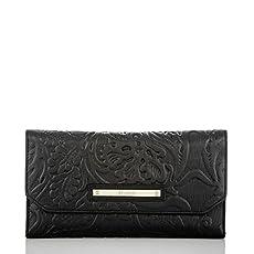 Soft Checkbook Wallet<br>Black Saint Germaine