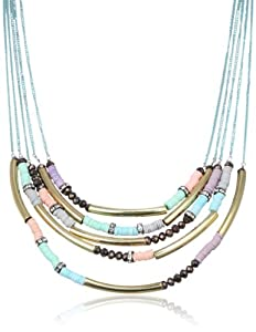 """Steve Madden Mixed Bead Multi-Chain Long Necklace, 32"""""""