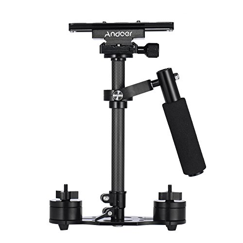 Andoer SY-JQ04 Pro 16 Inch / 40cm Handheld Carbon Fiber Stabilizer with Quick Release Plate and Clamp Base for Canon Nikon Sony DSLR Cameras Lightweight Camcorders Max Load 2kg