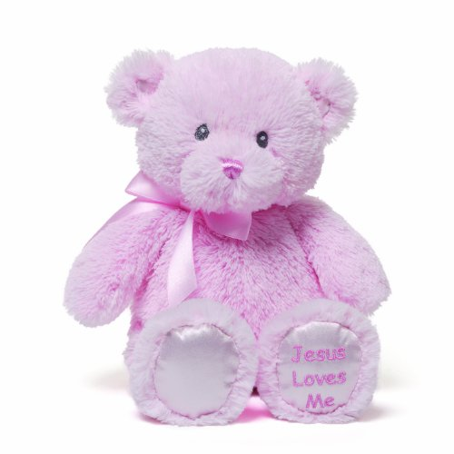 Gund Jesus Loves Me Pink Teddy Bear Plush
