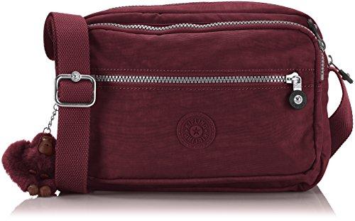 Kipling Womens Deena Cross-Body Bag Crimson