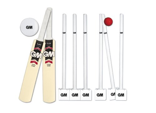 GM Flare DXM Pro 42341115 Plastic Cricket Set -Red/White/Black, Size 4