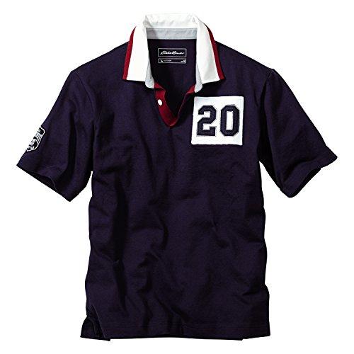 (Eddie/Bauer) Eddie Bauer short sleeve New Zealand up Racquet Rugby (Navy size: L)