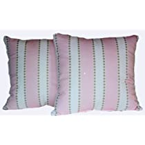 RLF Home Lulu Bella Cozy Pink Pillow Set of 2