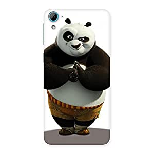 Stylish Punching Panda White Black Back Case Cover for HTC Desire 826