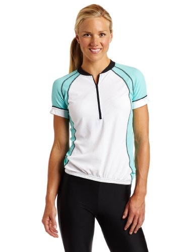 Canari Cyclewear Women's Cascade Jersey Short Sleeve Cycling Jersey (Blue, Medium)