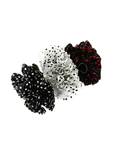 set-of-3-double-sided-polka-dot-plain-frilly-ruffle-scrunchies-garters