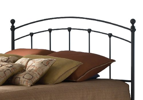 Buy Discount Fashion Bed Group Sanford King Size Headboard in Matte Black Finish