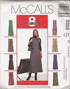McCall's Pattern 3352 Misses'/Miss Petite Dress or Jumper in Two Lengths Size DD/12-14-16-18