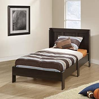 Mainstays Parklane Twin Platform Bed and Headboard