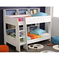 White Parisot Tam Tam Bunk Bed with Shelves