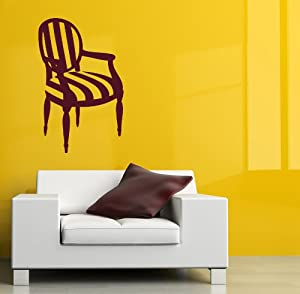 Housewares Vinyl Decal Chair Furniture Shop Home Wall Art Decor Removable Stylish Sticker Mural