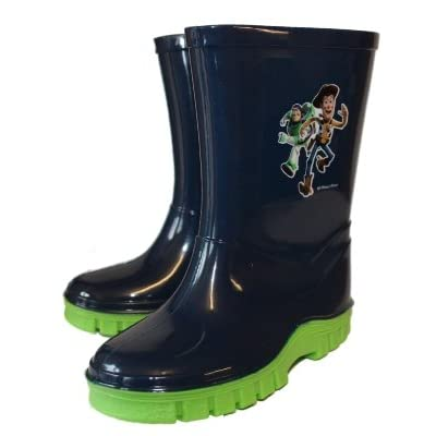 New Kids Boys Girls DISNEY PIXAR TOY STORY Woody And Buzz Lightyear Logo Cartoon Character Wellington. Sizes To Fit UK Child 6 - 7 - 8 - 9 - 10 - 11 - 12