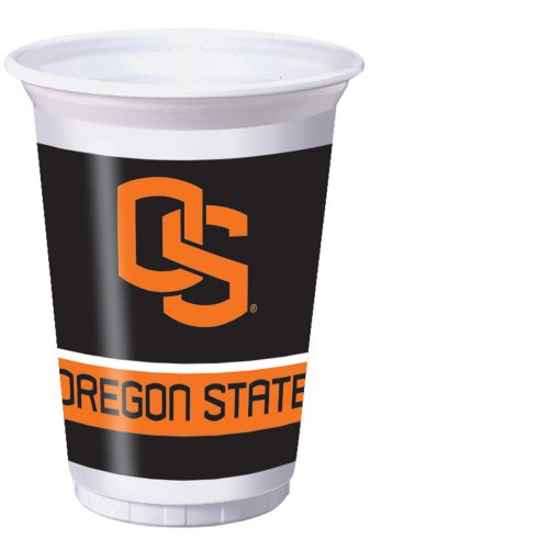 Creative Converting 8 Count Oregon State Beavers Printed Plastic Cups, 20-Ounce