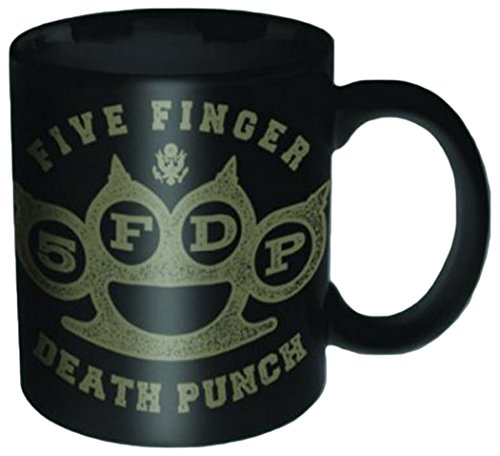 Empire Merchandising 688521 Five Finger Death Punch - Brass Knuckle Mini Espresso tazza in ceramica Dimensioni, diametro 5,5 h6,7 C
