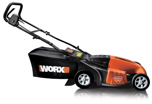 WORX WG718 19-Inch 13 amp Mulching/Side Discharge/Bagging Electric Lawn Mower