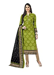 Vaamsi Women's A-Line Salwar Suite Dress Material(Deep1051_Green_Free Size)