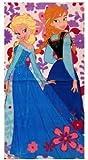 Frozen Anna and Elsa Beach Towel
