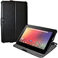 Amzer 95143 Shell Portfolio Case Black Leather Texture For Samsung Nexus 10, Google Nexus 10