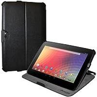 Amzer 95143 Shell Portfolio Case Black Leather Texture for Samsung Nexus 10, Google Nexus 10