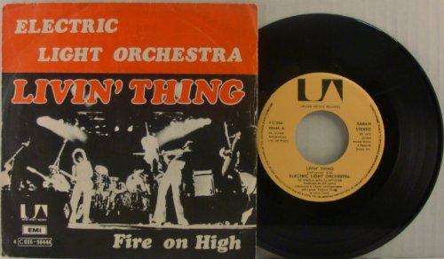 Livin' Thing 45 Rpm Single