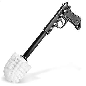 Scopino con portascopino a forma di pistola 40 cm porta - Scopini per bagno ...