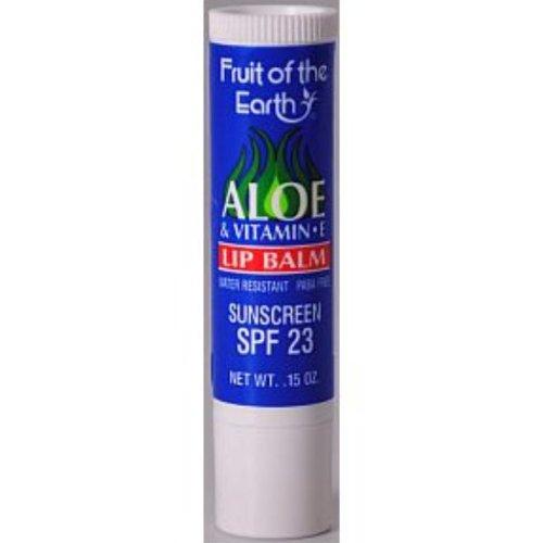 Fruit Of The Earth Lip Balm - Aloe And Vitamin E Spf 23 (Case Of 48)