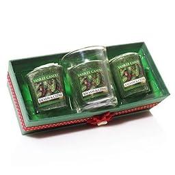 Yankee Candle Votive Gift Set Balsam and Cedar ---- Set of THREE