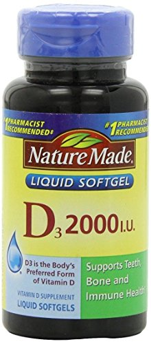 Nature Made Vitamin D 2000 Iu, 400 Count (Pack Of 2 - 200 Count)