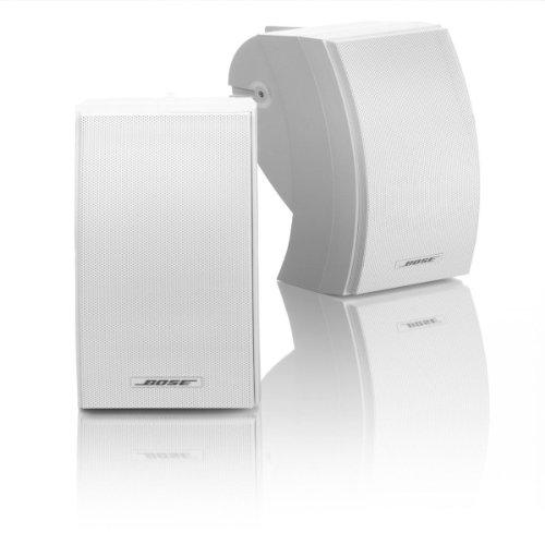 Bose 251 | Environmental Premium Outdoor Speaker System With Brackets, Pair (White)