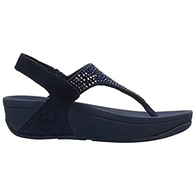 FitFlop Womens Flare Navy Mesh Sandals 8.5 US