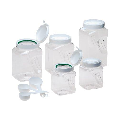 snapware 60002bxs square grip 10 piece airtight dry food