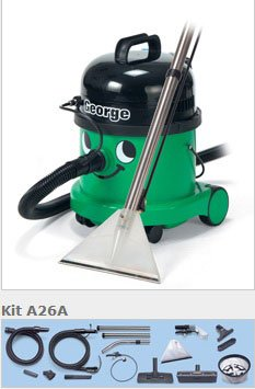 Numatic George Green bagged cylinder 3-in-1 vacuum cleaner 1200w motor 230v GVE370-2GREEN