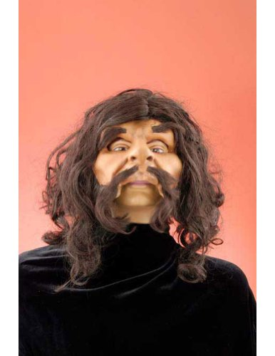 Caveman Mask With Hair Halloween Costume - Most Adults