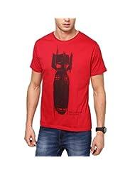 SlingShot Men's Round Neck Cotton T-Shirt (Red)