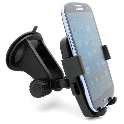 Xenda Premium Universal Car Mount Windshield Rotating Phone Holder Dock For Us Cellular Samsung Repp - Us Cellular Samsung Gem Sch-I100 - Us Cellular Zte Render - Verizon Casio G-Zone Commando 4G Lte front-638117
