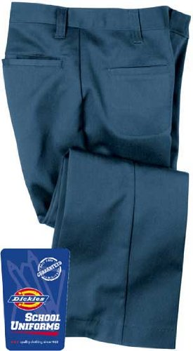Dickies Youth/Girl's Welt Pocket SchoolWear Pant (Junior Sized) Size:11 Color:Silver